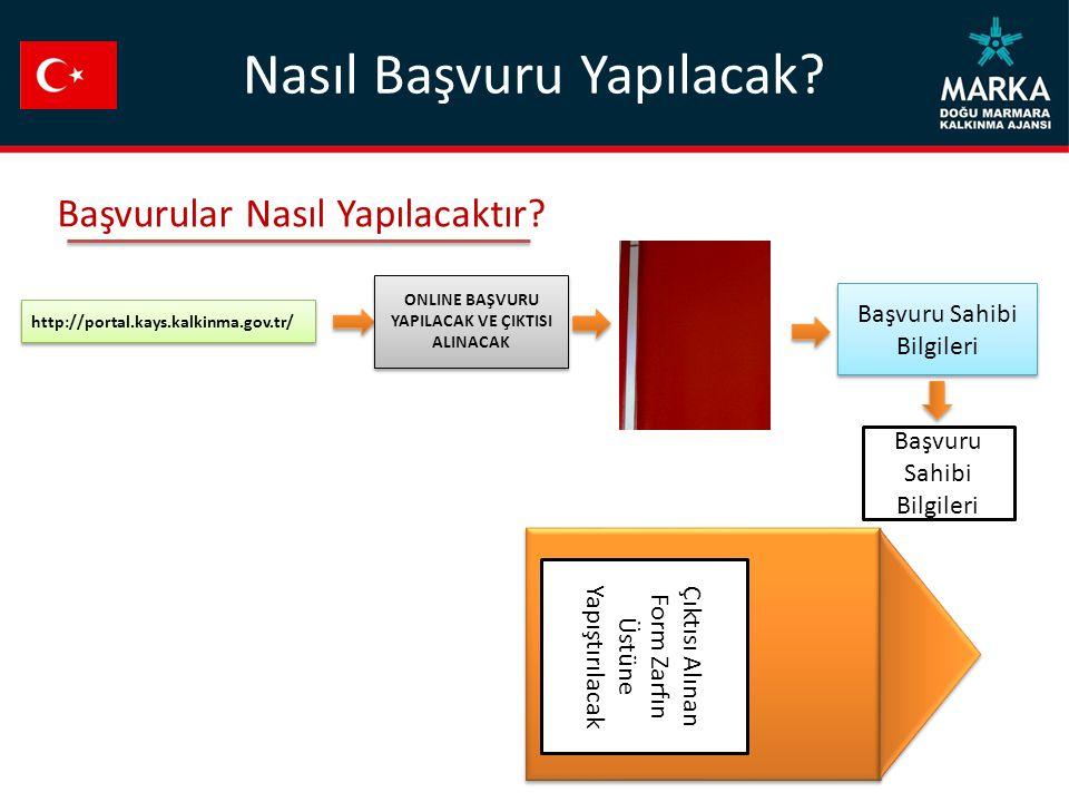 http://portal.kays.kalkinma.gov.tr/ Başvuru Sahibi Bilgileri Çıktısı Alınan Form Zarfın Üstüne Yapıştırılacak Başvurular Nasıl Yapılacaktır.