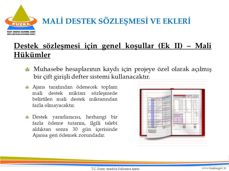 T.C. Kuzey Anadolu Kalkınma Ajansı www.kuzka.gov.tr Destek sözleşmesi için genel koşullar (Ek II) – Mali Hükümler Muhasebe hesaplarının kaydı için pro
