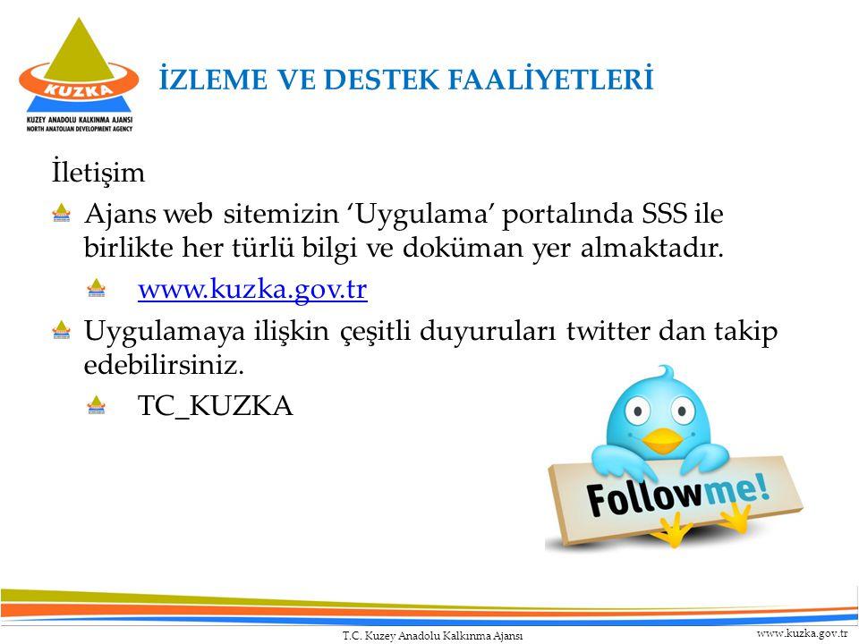 T.C. Kuzey Anadolu Kalkınma Ajansı www.kuzka.gov.tr İletişim Ajans web sitemizin 'Uygulama' portalında SSS ile birlikte her türlü bilgi ve doküman yer