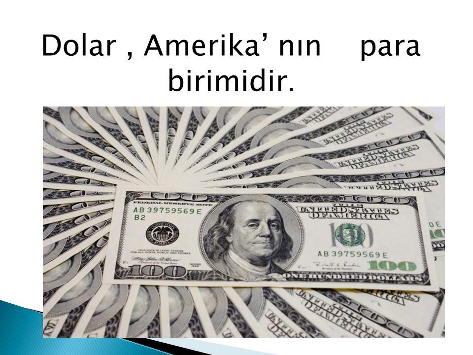 Dolar, Amerika' nın, para birimidir.