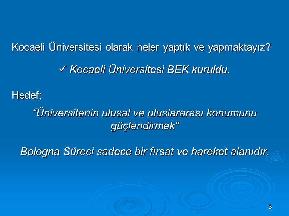 3 Kocaeli Üniversitesi olarak neler yaptık ve yapmaktayız.