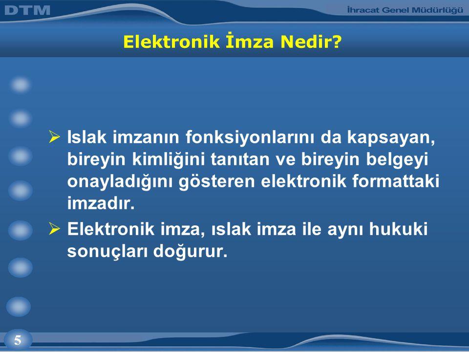 5 Elektronik İmza Nedir.