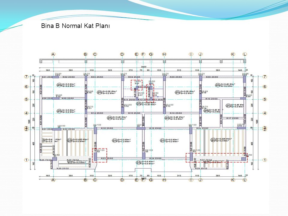Bina B Normal Kat Planı
