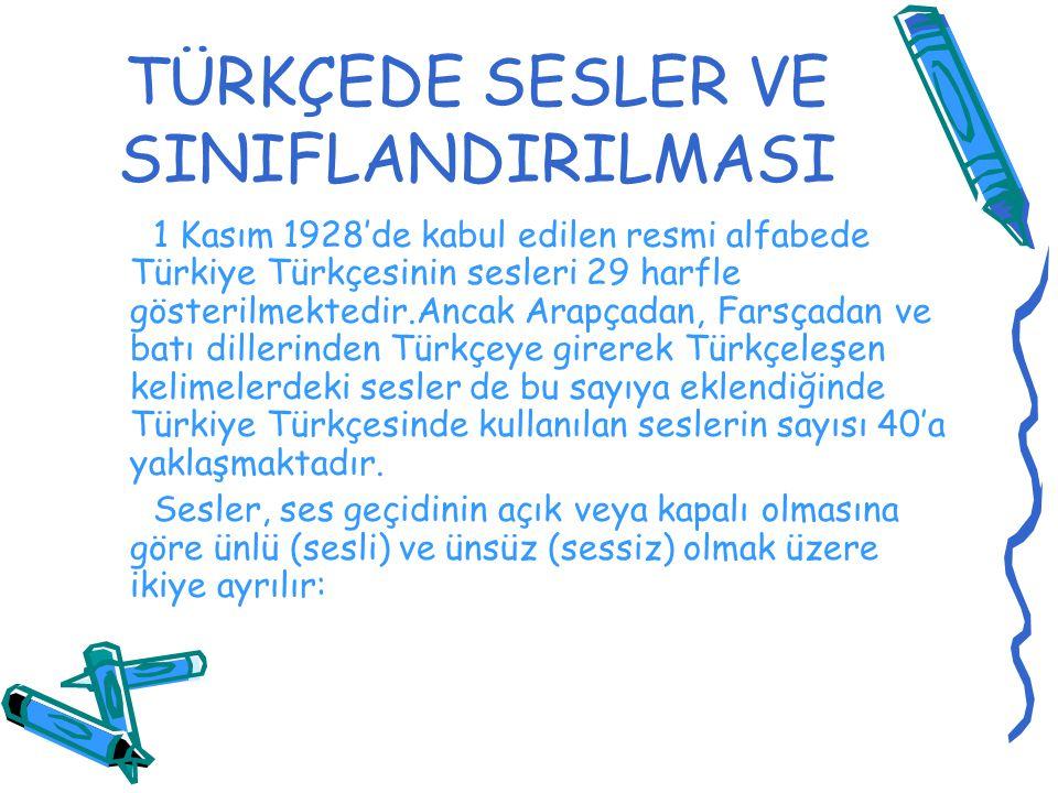 1 Kasım 1928'de kabul edilen resmi alfabede Türkiye Türkçesinin sesleri 29 harfle gösterilmektedir.Ancak Arapçadan, Farsçadan ve batı dillerinden Türk