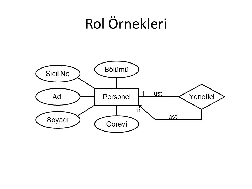 Rol Örnekleri Personel Yönetici Soyadı Adı Bölümü Görevi Sicil No üst ast 1 n