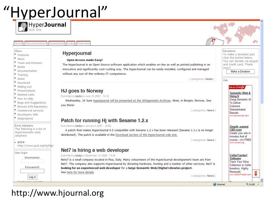 HyperJournal http://www.hjournal.org