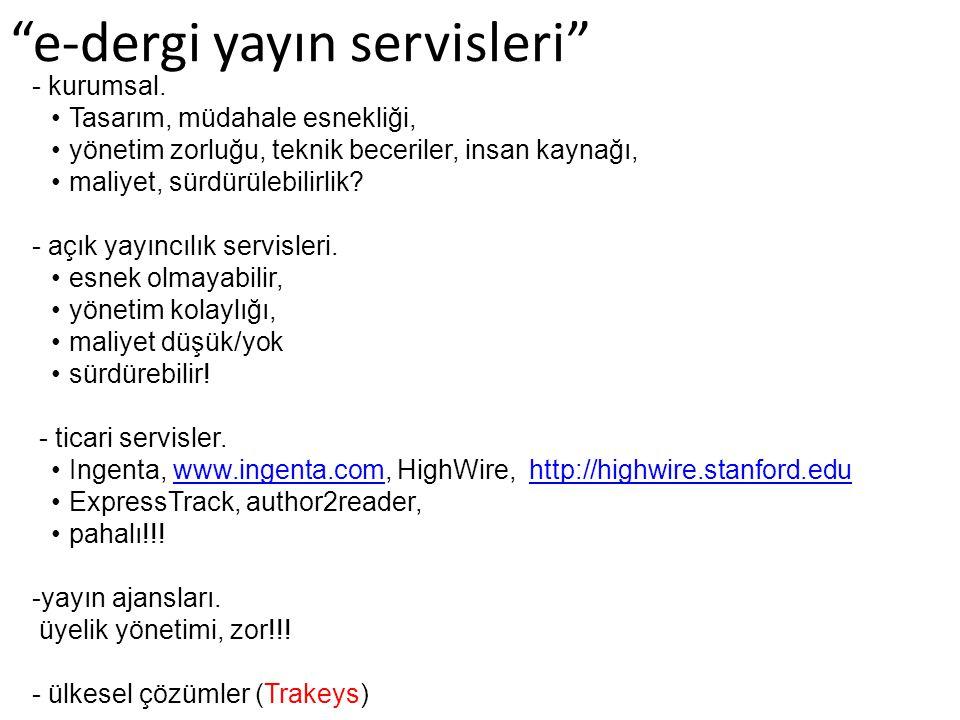 e-dergi yayın servisleri - kurumsal.