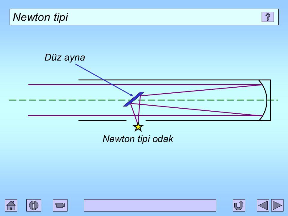 Newton tipi Düz ayna Newton tipi odak