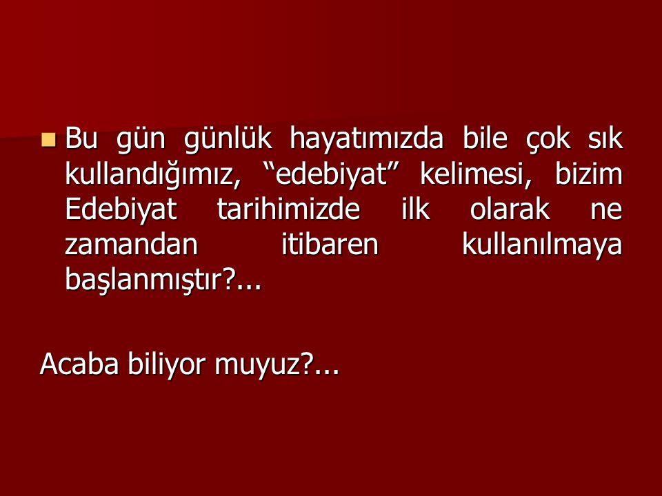 Osmanlı döneminde, güzel yazı yazma anlamında ilmü'l – edeb tabiri kullanılırdı.