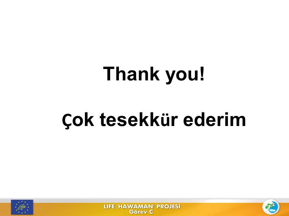 Thank you! Ç ok tesekk ü r ederim