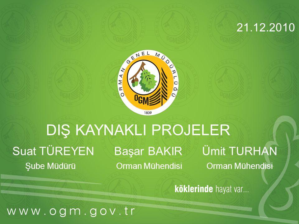 DIŞ KAYNAKLI PROJELER Suat TÜREYEN Başar BAKIR Ümit TURHAN Şube Müdürü Orman Mühendisi Orman Mühendisi 21.12.2010