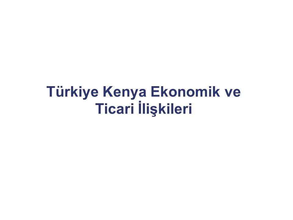 Türkiye Kenya Ekonomik ve Ticari İlişkileri