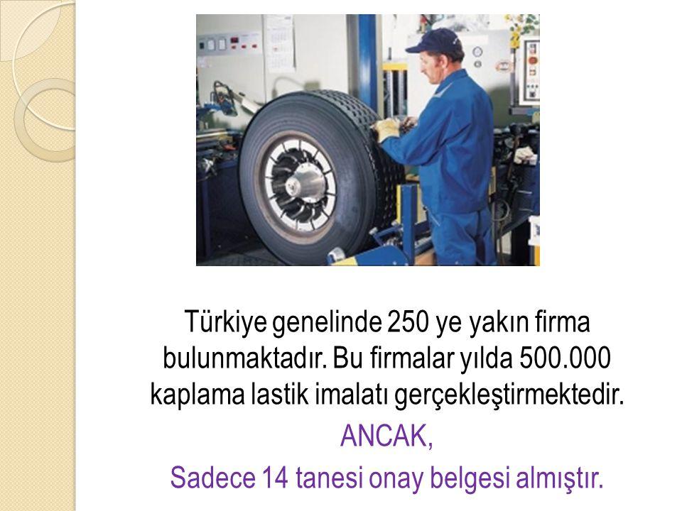 Türkiye genelinde 250 ye yakın firma bulunmaktadır. Bu firmalar yılda 500.000 kaplama lastik imalatı gerçekleştirmektedir. ANCAK, Sadece 14 tanesi ona