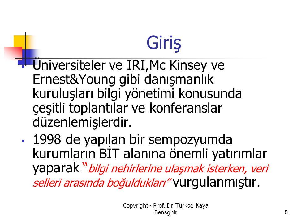 69 Copyright - Prof. Dr. Türksel Kaya Bensghir