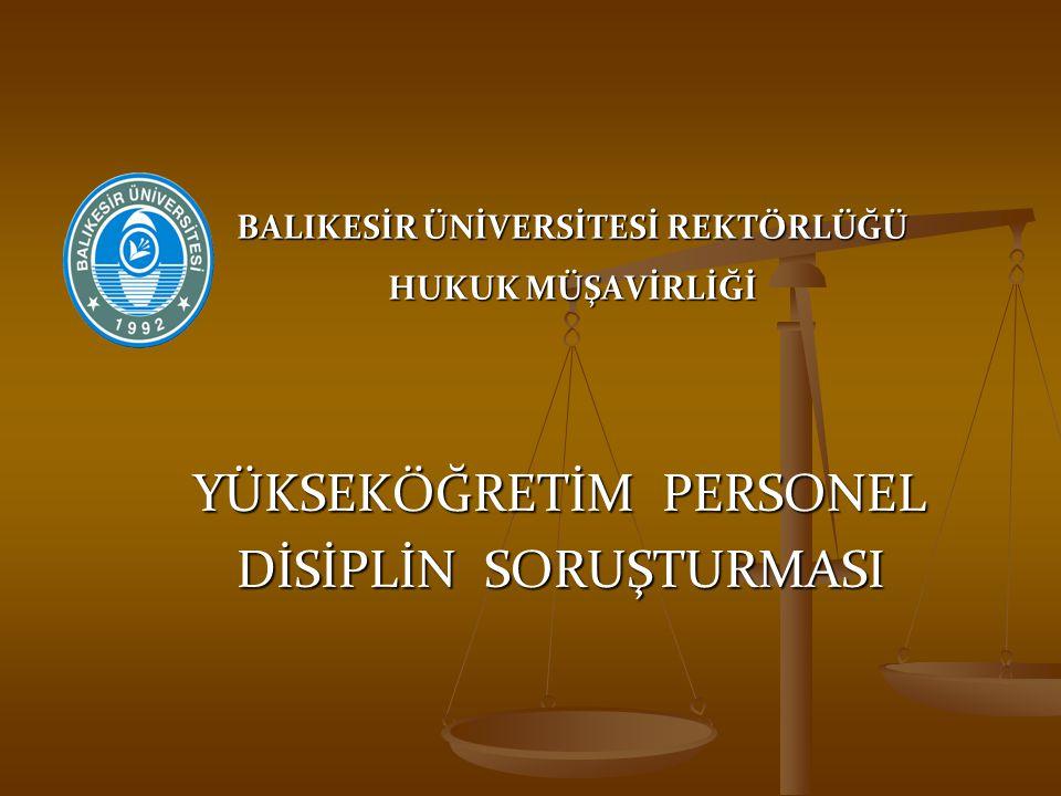 Savunma Hakkı Madde 24 - Savunma alınmadan disiplin cezası verilemez.