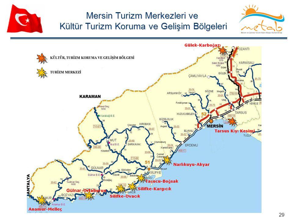 Mersin Turizm Merkezleri ve Kültür Turizm Koruma ve Gelişim Bölgeleri Kültür Turizm Koruma ve Gelişim Bölgeleri 29
