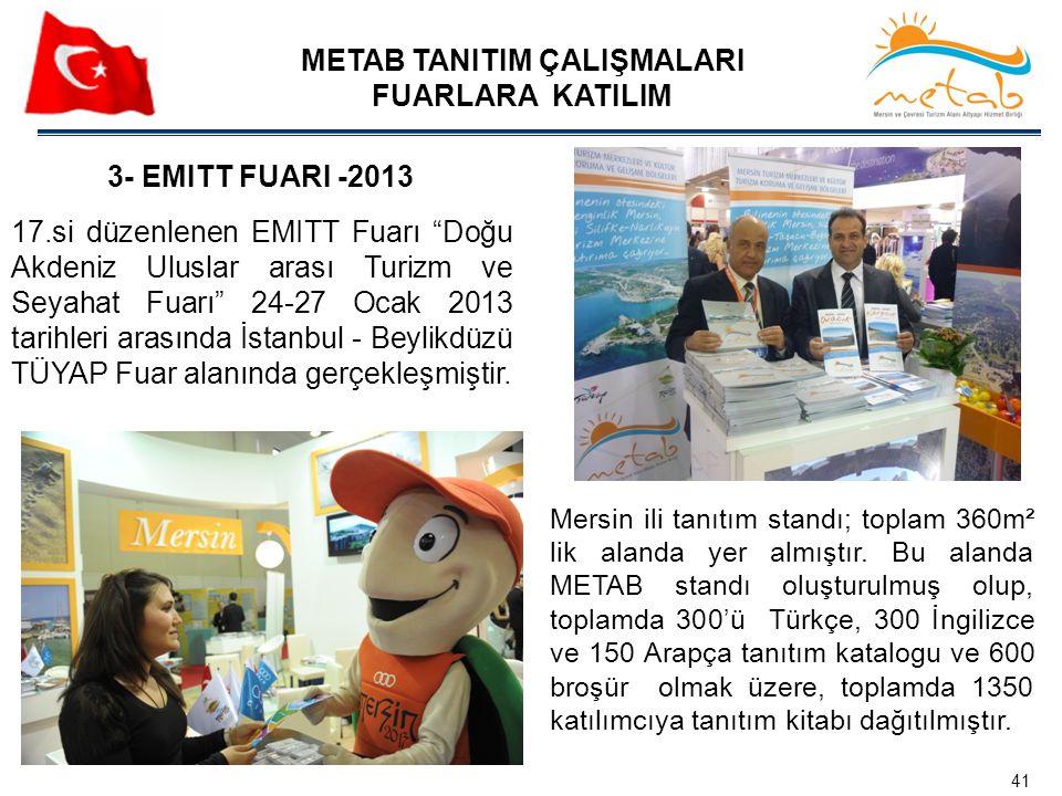 """17.si düzenlenen EMITT Fuarı """"Doğu Akdeniz Uluslar arası Turizm ve Seyahat Fuarı"""" 24-27 Ocak 2013 tarihleri arasında İstanbul - Beylikdüzü TÜYAP Fuar"""