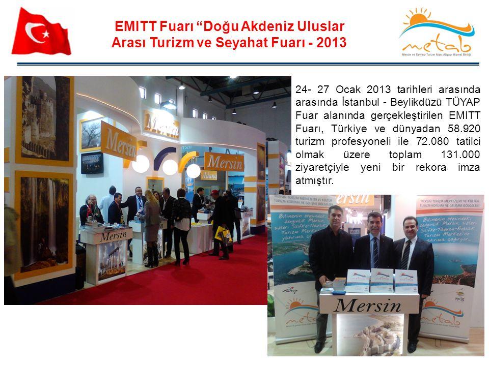 """46 EMITT Fuarı """"Doğu Akdeniz Uluslar Arası Turizm ve Seyahat Fuarı - 2013 24- 27 Ocak 2013 tarihleri arasında arasında İstanbul - Beylikdüzü TÜYAP Fua"""