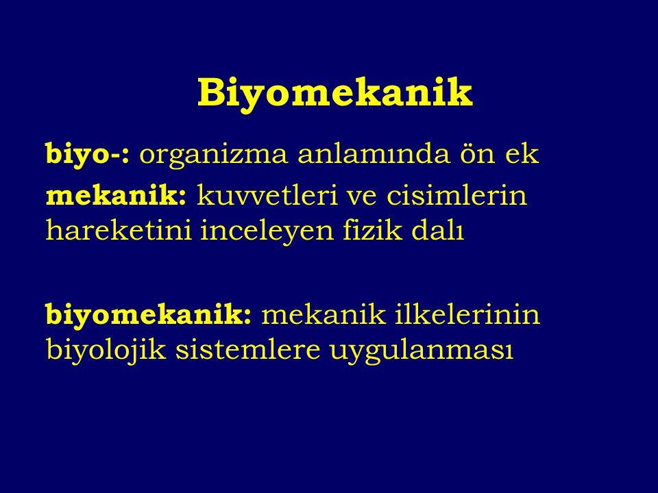 Biyomekanik Biyo Anatomi Fizyoloji Kinesiyoloji Ortopedi...