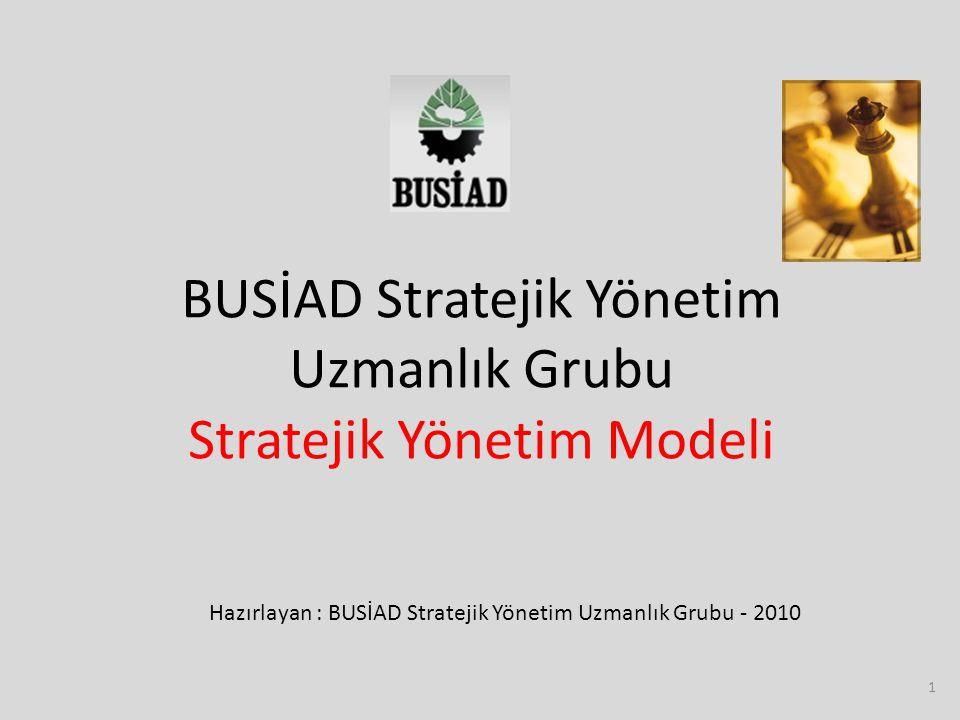 1 BUSİAD Stratejik Yönetim Uzmanlık Grubu Stratejik Yönetim Modeli Hazırlayan : BUSİAD Stratejik Yönetim Uzmanlık Grubu - 2010
