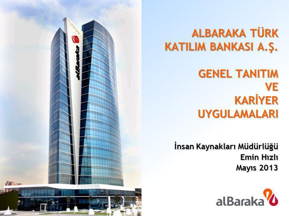 İnsan Kaynakları Müdürlüğü Emin Hızlı Mayıs 2013 ALBARAKA TÜRK KATILIM BANKASI A.Ş. GENEL TANITIM VE KARİYER UYGULAMALARI