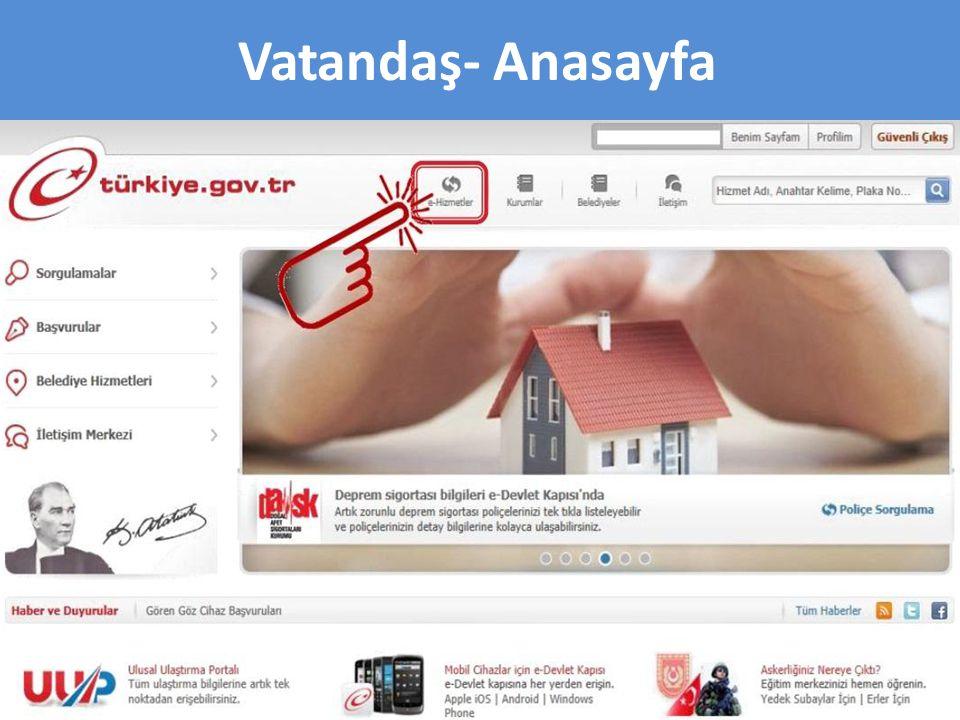 E-Hizmetler Sayfası