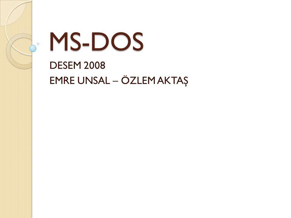 MS-DOS DESEM 2008 EMRE UNSAL – ÖZLEM AKTAŞ