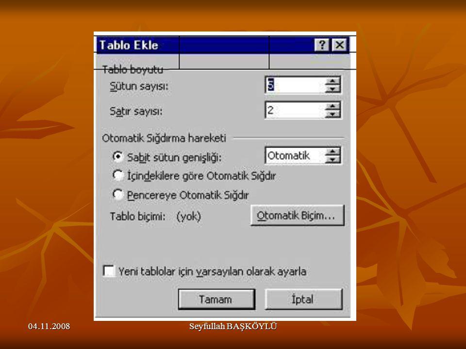 04.11.2008Seyfullah BAŞKÖYLÜ