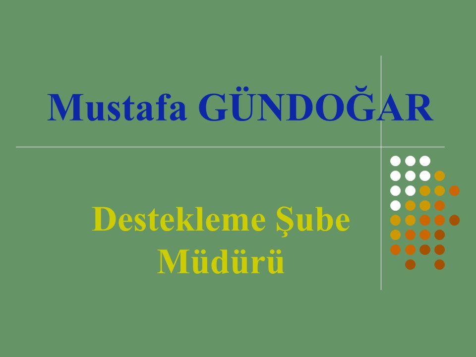Mustafa GÜNDOĞAR Destekleme Şube Müdürü