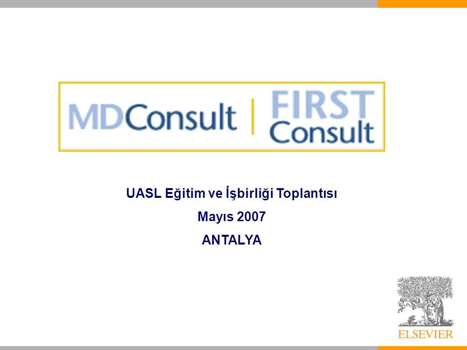 UASL Eğitim ve İşbirliği Toplantısı Mayıs 2007 ANTALYA