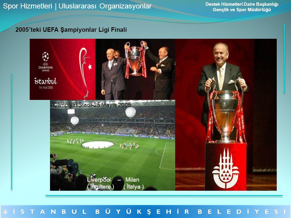 2005'teki UEFA Şampiyonlar Ligi Finali Liverpool – Milan ( İngiltere ) ( İtalya ) Olimpiyat Stadı-25 Mayıs 2005 Spor Hizmetleri | Uluslararası Organiz