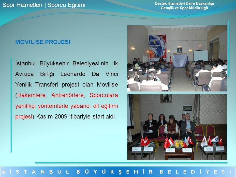 MOVILISE PROJESİ İstanbul Büyükşehir Belediyesi'nin ilk Avrupa Birliği Leonardo Da Vinci Yenilik Transferi projesi olan Movilise (Hakemlere, Antrenörl