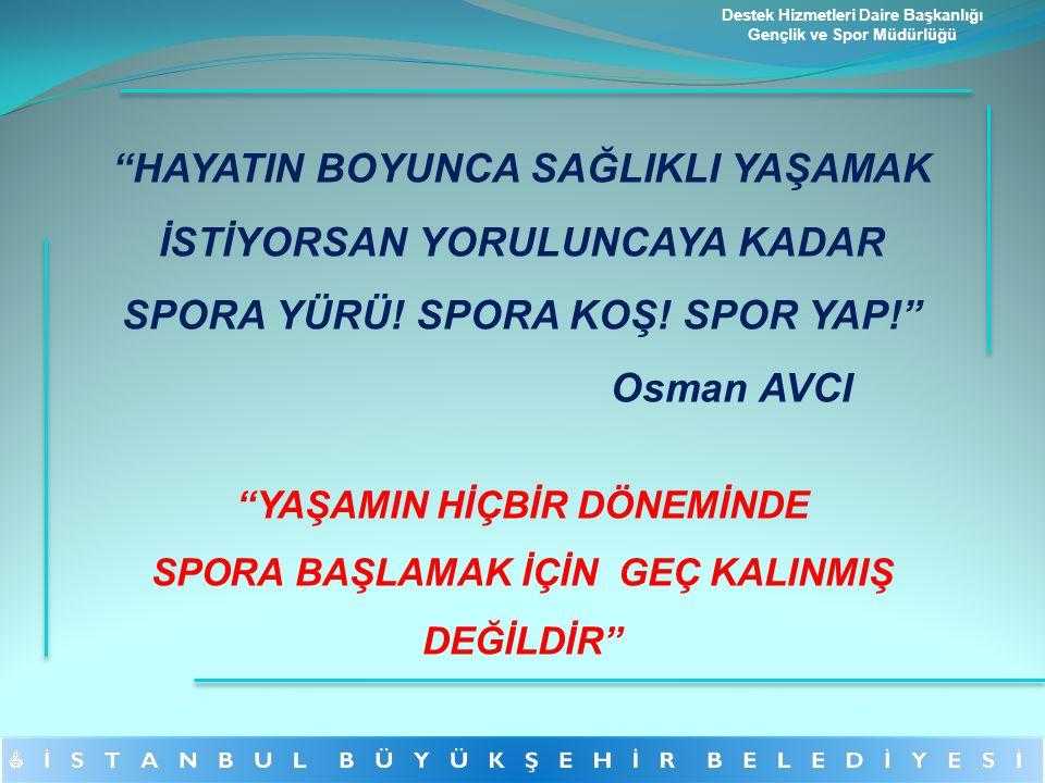 """""""HAYATIN BOYUNCA SAĞLIKLI YAŞAMAK İSTİYORSAN YORULUNCAYA KADAR SPORA YÜRÜ! SPORA KOŞ! SPOR YAP!"""" Osman AVCI """"YAŞAMIN HİÇBİR DÖNEMİNDE SPORA BAŞLAMAK İ"""