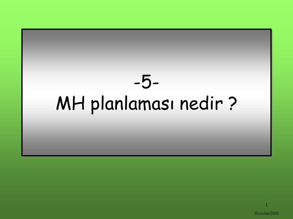 -5- MH planlaması nedir ? 1 ©cnokan2009