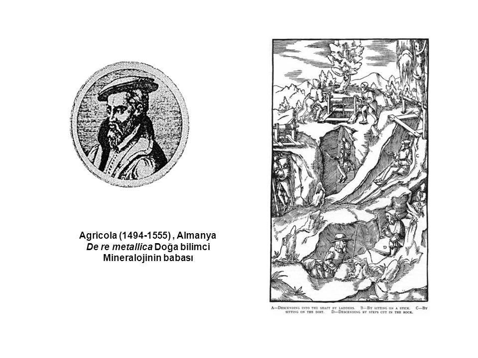 Agricola (1494-1555), Almanya De re metallica Doğa bilimci Mineralojinin babası