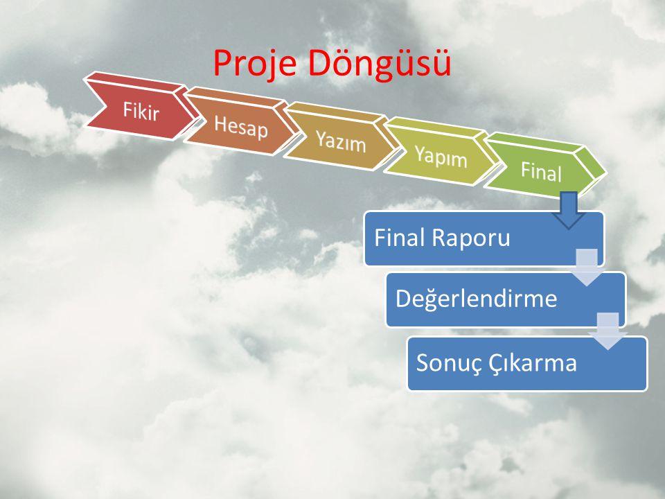 Proje Döngüsü Final RaporuDeğerlendirmeSonuç Çıkarma