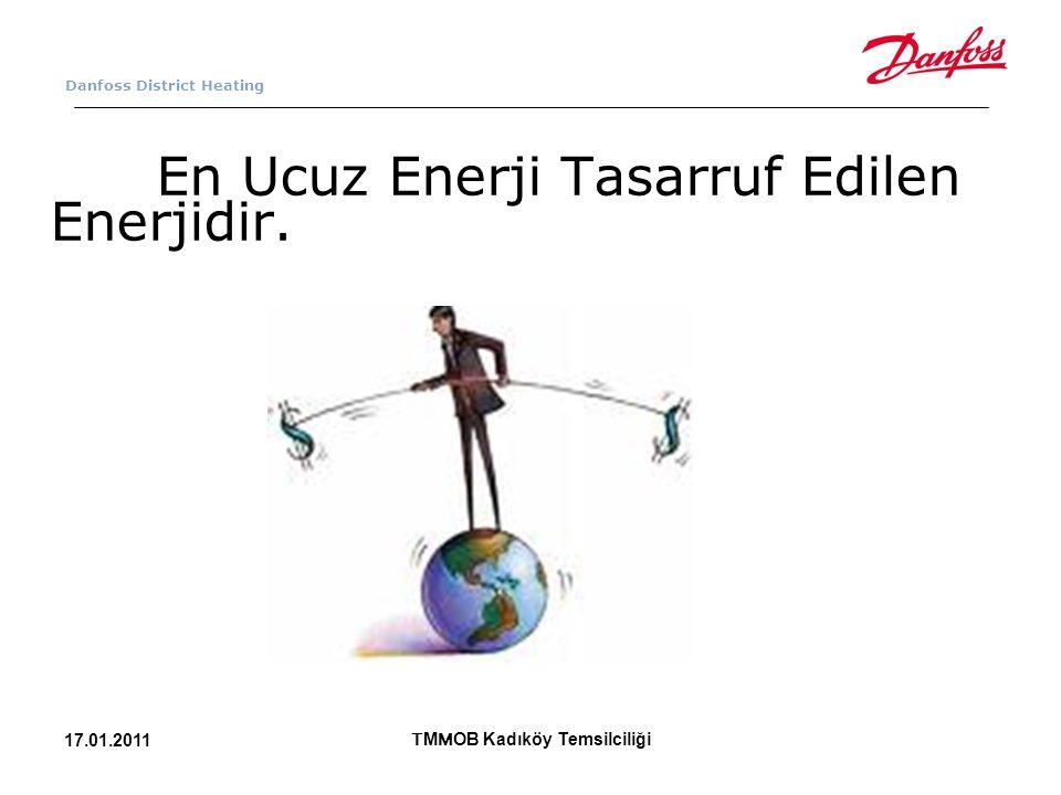 Danfoss District Heating En Ucuz Enerji Tasarruf Edilen Enerjidir. T M M OB Kadıköy Temsilciliği 17.01.2011