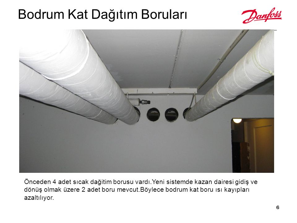 Her dairenin girişine merkezi sistem için gerekli tüm ekipmanların olduğu istasyon yerleştirilir: Eşanjör Kalorimetre Sıcak su sayacı Balans vanası Basınç düşürücü Radyatör hattı motorlu vana Kollektör Sirkülasyon pompası T M M OB Kadıköy Temsilciliği 17.01.2011