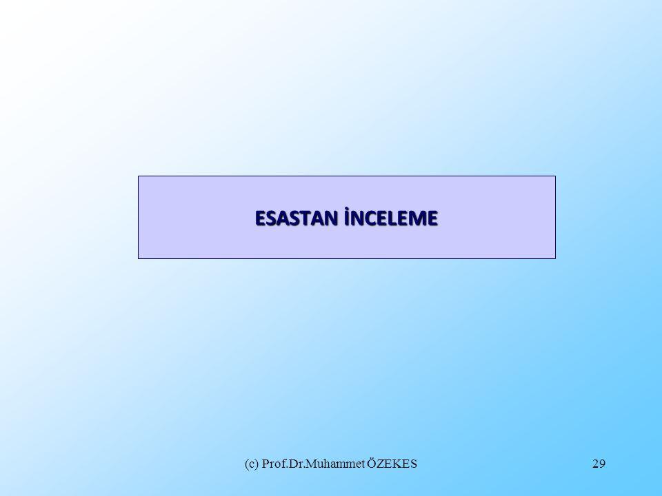 (c) Prof.Dr.Muhammet ÖZEKES29 ESASTAN İNCELEME