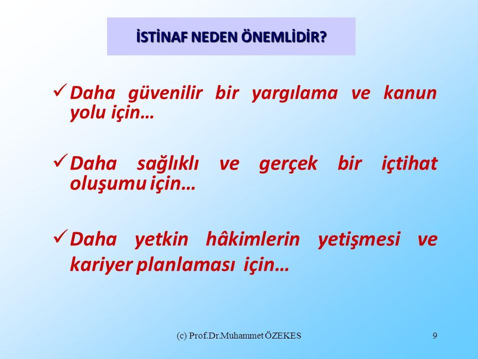 (c) Prof.Dr.Muhammet ÖZEKES10 İSTİNAF YOLUNA BAŞVURU