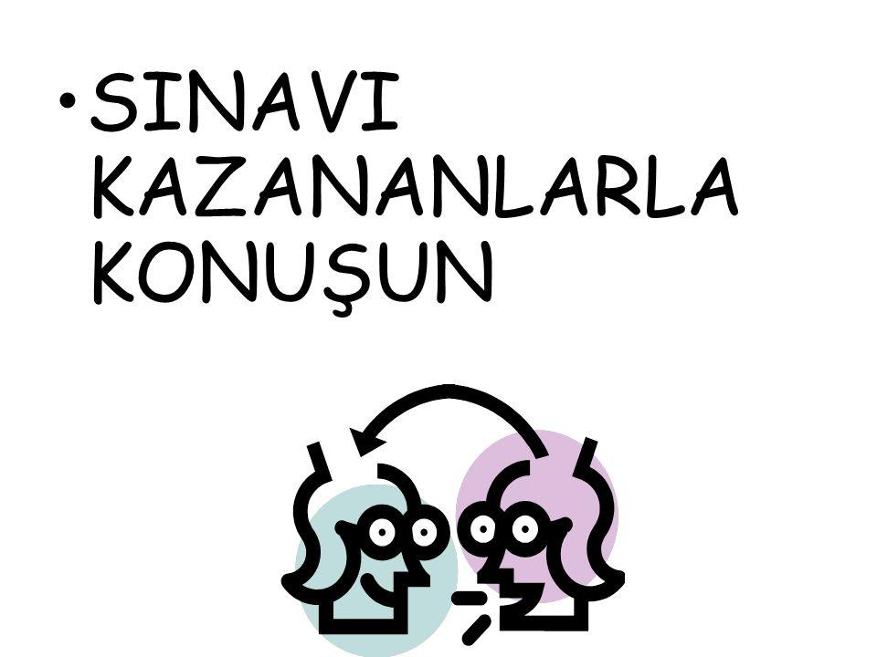 SINAVI KAZANANLARLA KONUŞUN