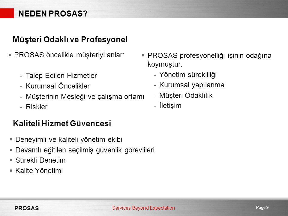 Services Beyond Expectation PROSAS Page 9 NEDEN PROSAS.