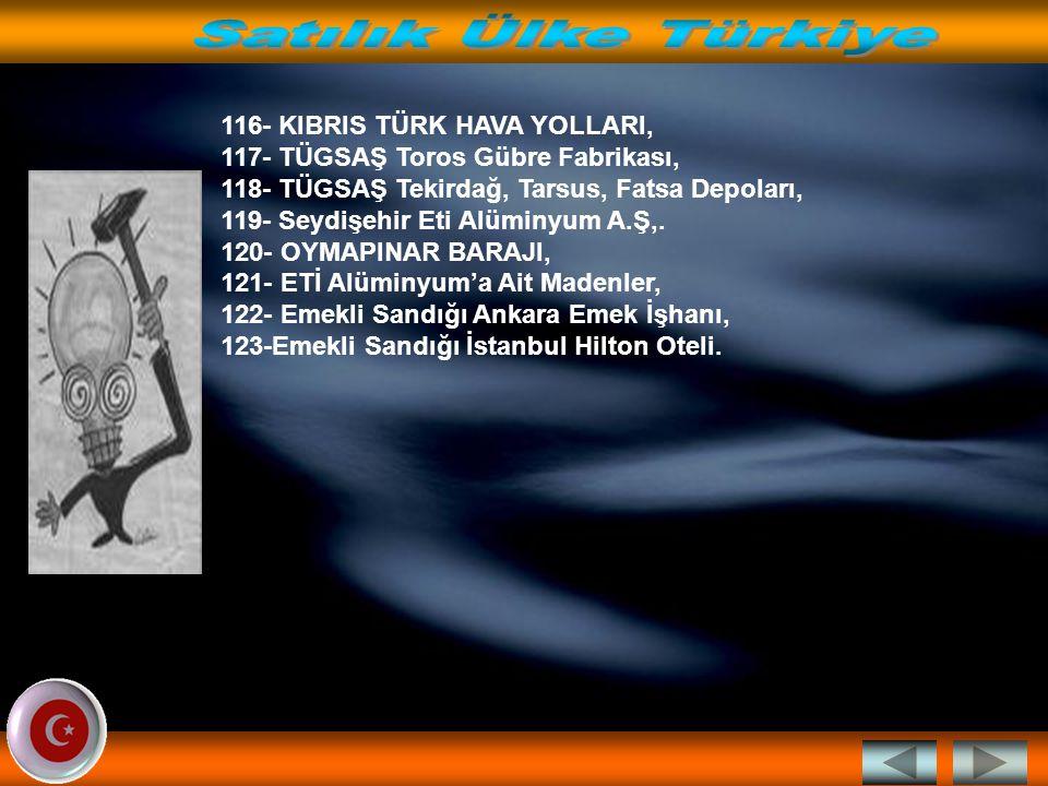 96-TEKEL Sigara Fabrikalarına Ait Taşınmazlar,.