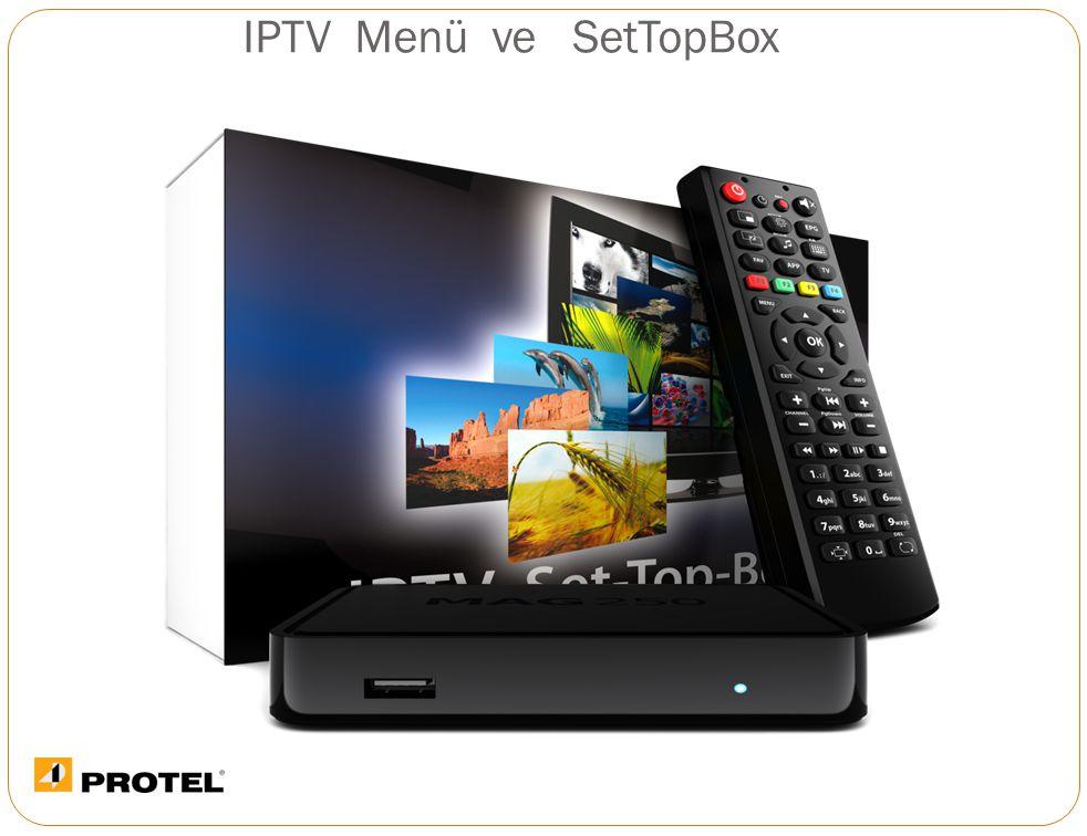 IPTV Menü ve SetTopBox