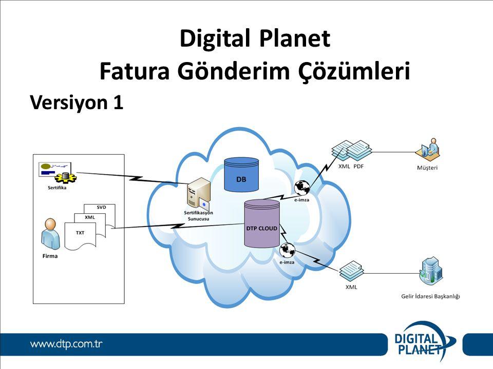 Digital Planet Fatura Gönderim Çözümleri Versiyon 1