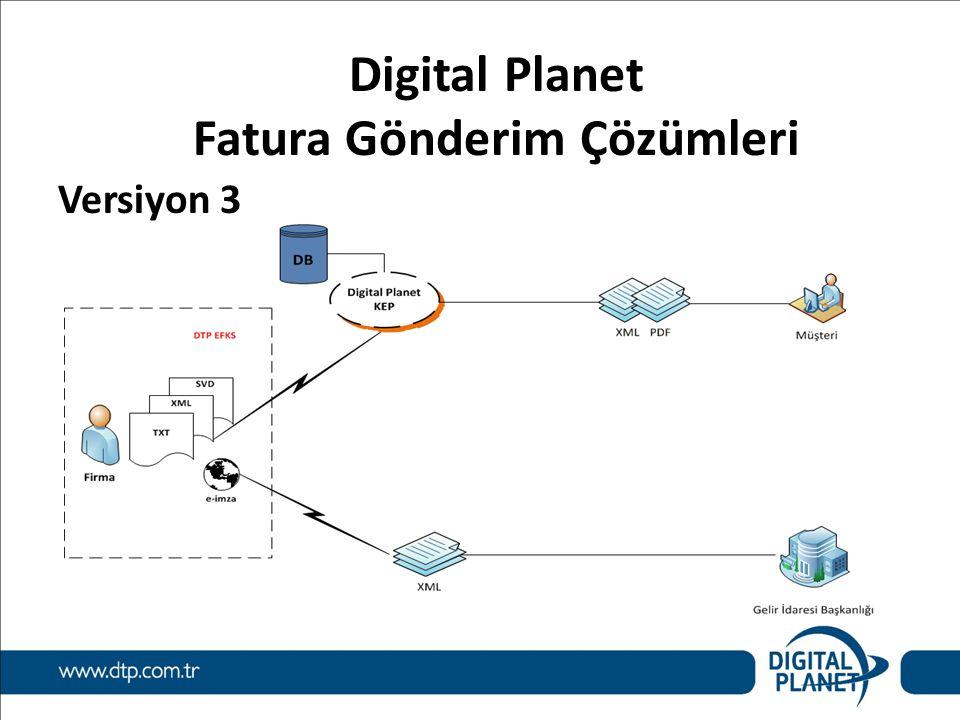 Digital Planet Fatura Gönderim Çözümleri Versiyon 3