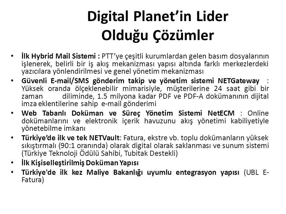 Digital Planet'in Lider Olduğu Çözümler İlk Hybrid Mail Sistemi : PTT'ye çeşitli kurumlardan gelen basım dosyalarının işlenerek, belirli bir iş akış m