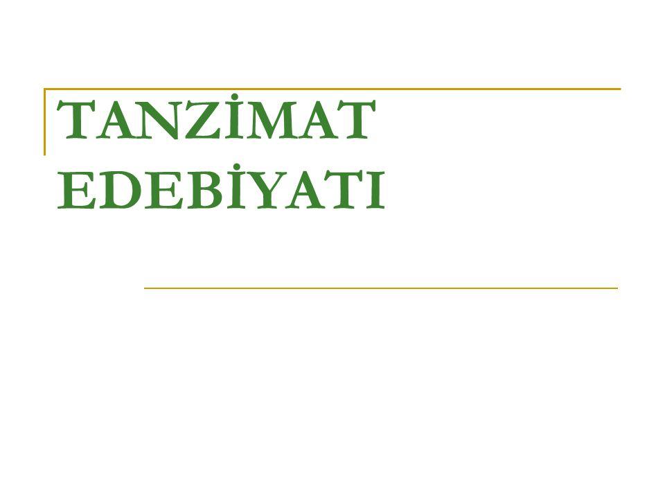 OLGUNLUK DÖNEMİ BİRİNCİ DÖNEM (1860-1876) Tanzimat edebiyatı 1860 yılında, Şinasi'nin ilk özel Türk gazetesi olan Tercüman-ı Ahval i çıkarmasıyla başlar.