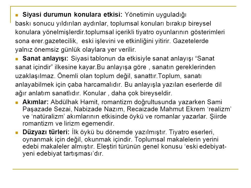 ÖRNEK SORU: Nabizade Nazım'ın Karabibik adlı eseri ile ilgili aşağıdaki ifadelerden hangisi yanlıştır.