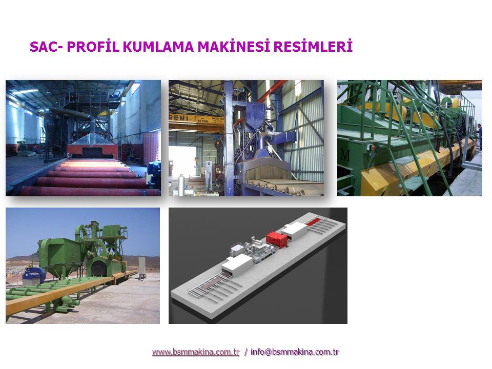 SAC- PROFİL KUMLAMA MAKİNESİ RESİMLERİ www.bsmmakina.com.trwww.bsmmakina.com.tr / info@bsmmakina.com.tr www.bsmmakina.com.tr